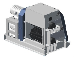 Double-rotor straw crusher
